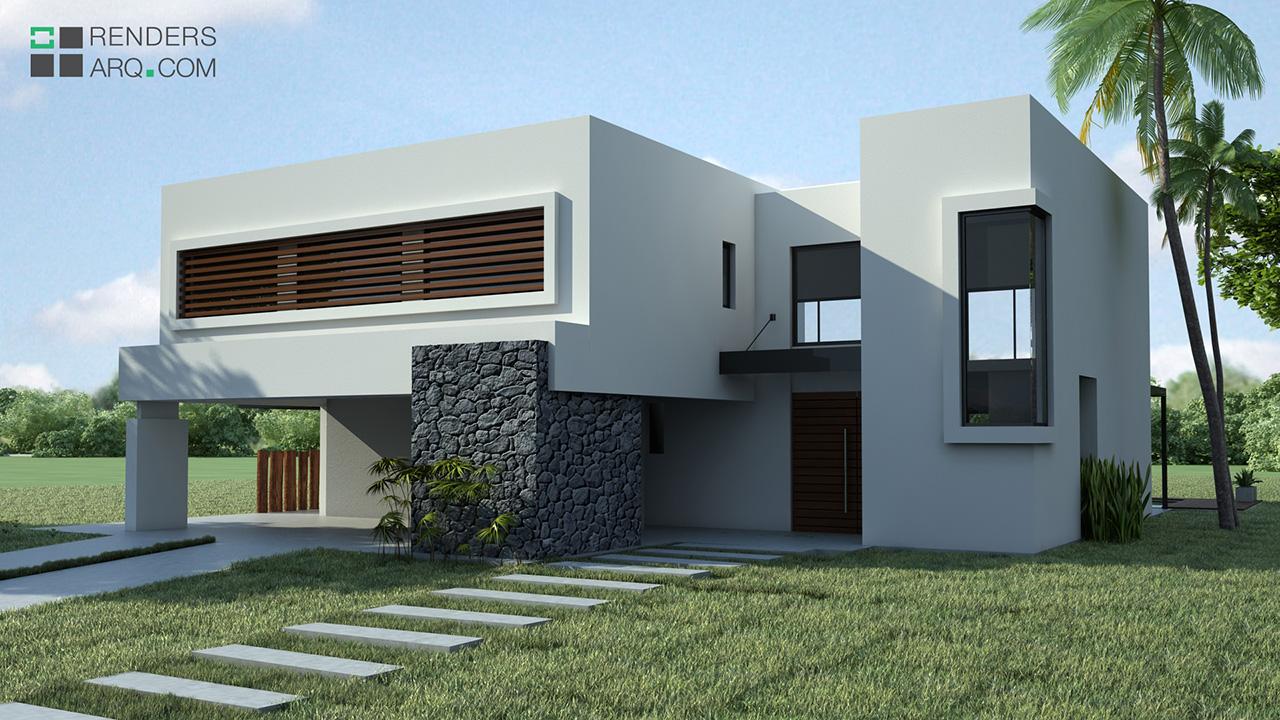 Casa country renders arquitectura for Render casa minimalista
