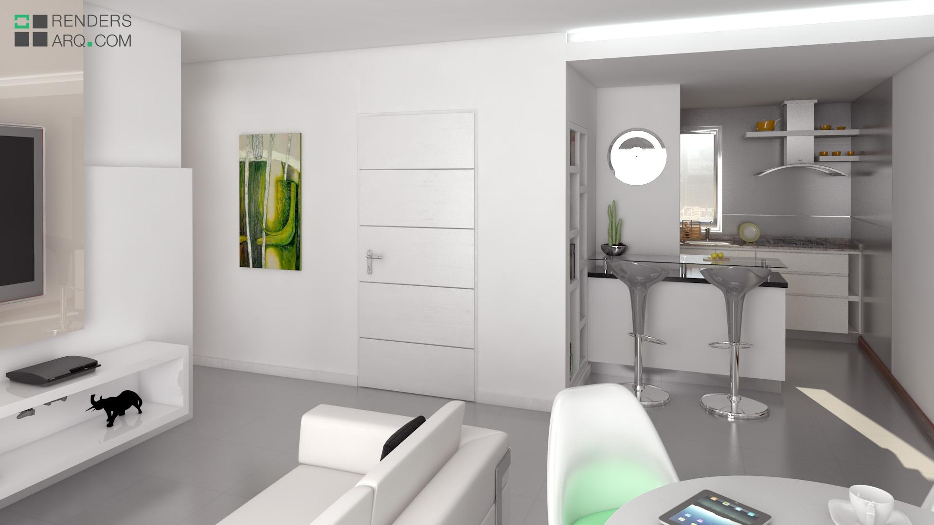 Edificio san martin renders arquitectura for Interior departamento