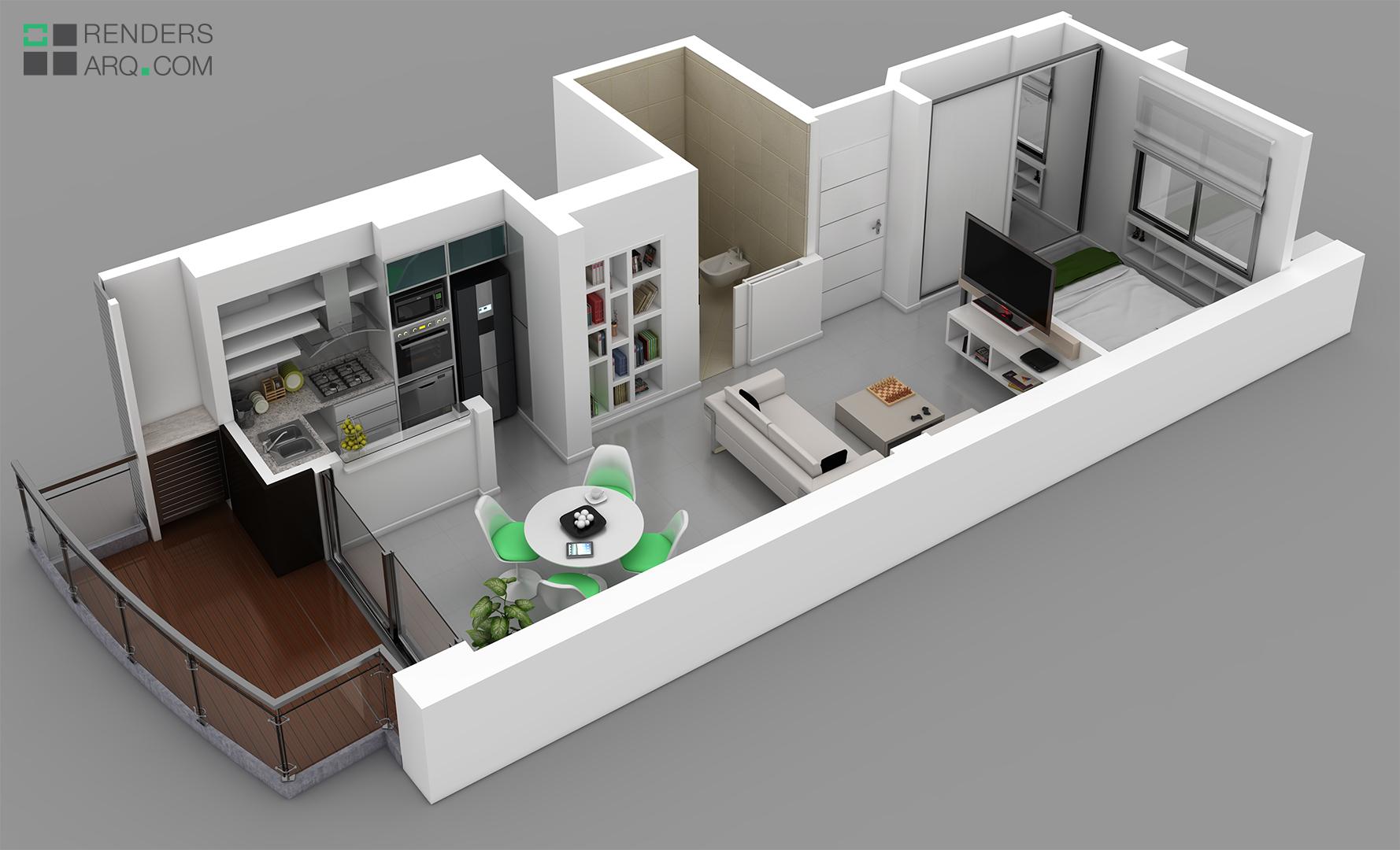 Edificio san martin renders arquitectura for Maquetas de apartamentos modernos
